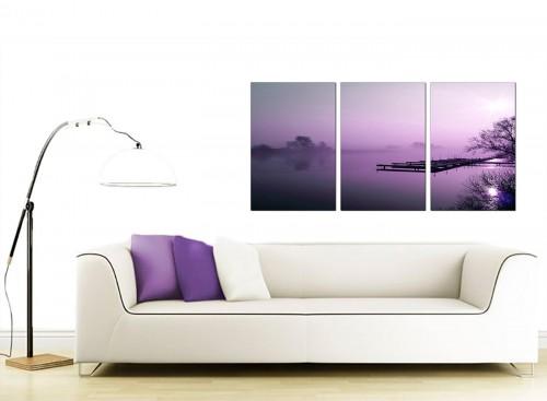3 Panel Landscape Canvas Art 125cm x 60cm 3119