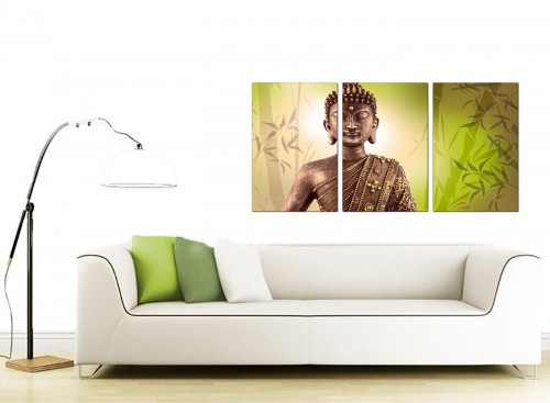Set of Three Oriental Canvas Art 125cm x 60cm 3100