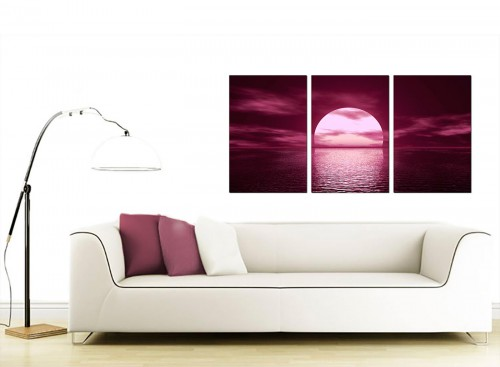 Set of 3 Sea Canvas Prints UK 125cm x 60cm 3004