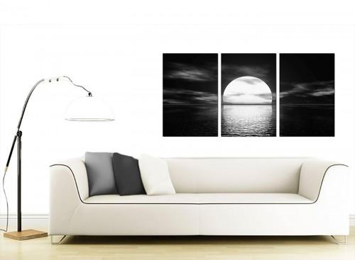 3 Panel Sea Canvas Pictures 125cm x 60cm 3003