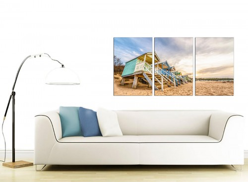 Set of 3 Sea Canvas Art 125cm x 60cm 3200