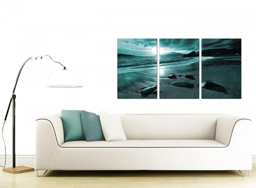 3 Part Seascape Canvas Art 125cm x 60cm 3079