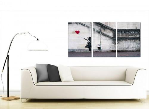 Set of 3 Urban Canvas Wall Art 125cm x 60cm 3050
