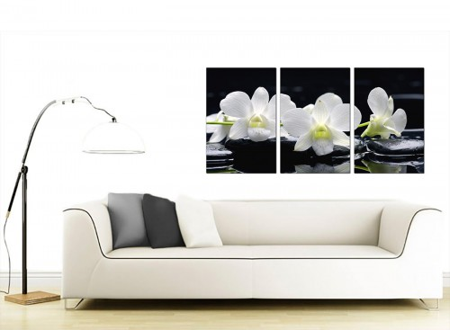 3 Panel Flower Canvas Prints 125cm x 60cm 3051