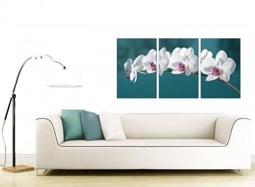 Set of Three Flower Canvas Art 125cm x 60cm 3115