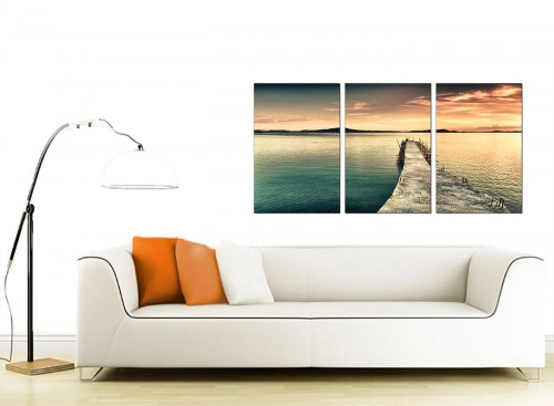 Set of 3 Landscape Canvas Prints UK 125cm x 60cm 3108