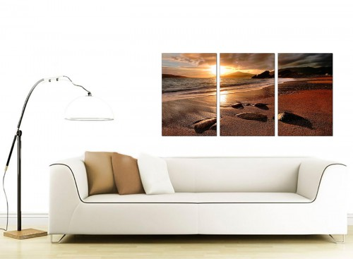 Set of 3 Sea Canvas Prints 125cm x 60cm 3131