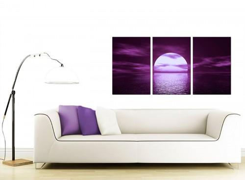 Set of Three Sea Canvas Prints 125cm x 60cm 3002