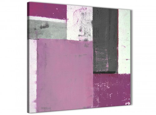 Modern Purple Grey Abstract Painting Canvas Wall Art Picture Modern 79cm Square 1S355L For Your Bedroom