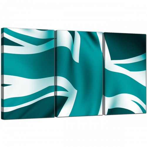 3 Panel Flag Canvas Pictures England 3010