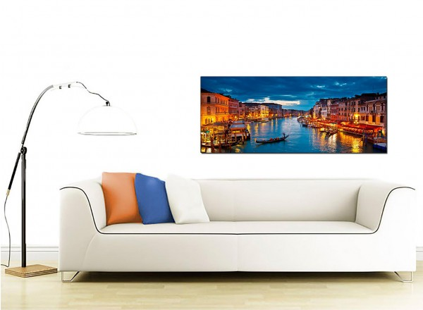 Large Venice Italy Gondola Grand Canal Blue Cityscape Canvas Art   120cm    1068