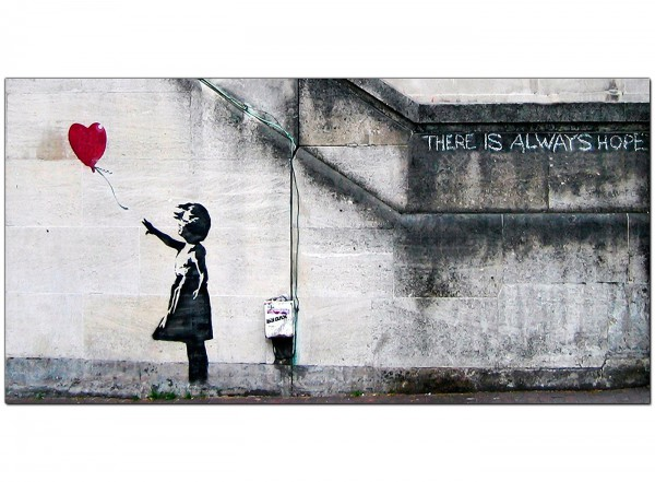 Banksy Large Canvas Prints Girl with the Red Balloon for  : panoramic cheap red banksy canvas picture 10502 from www.wallfillers.co.uk size 600 x 441 jpeg 74kB