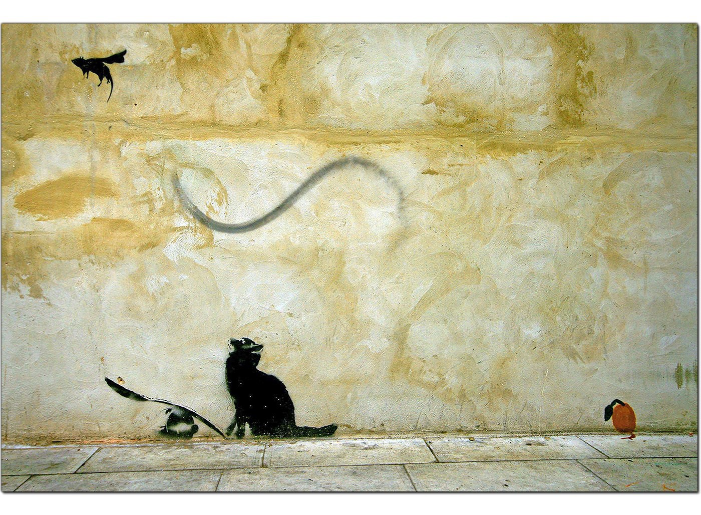 Banksy Canvas Prints Cat And Mouse