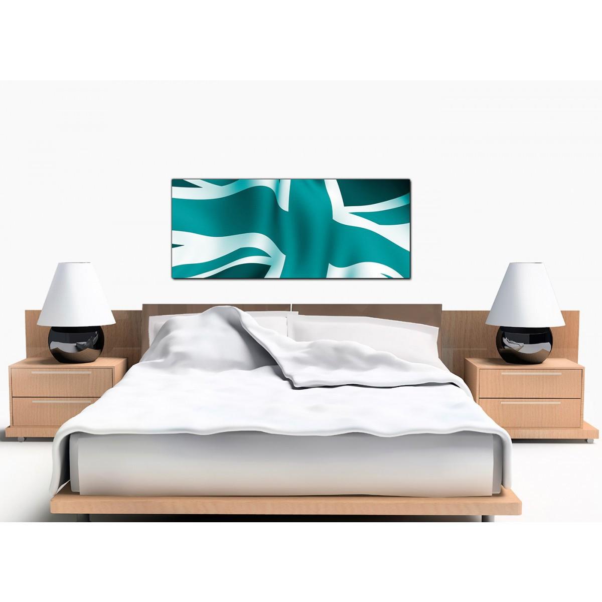 Display Gallery Item 3; British Flag Large Teal Canvas Wall Art Display  Gallery Item 4