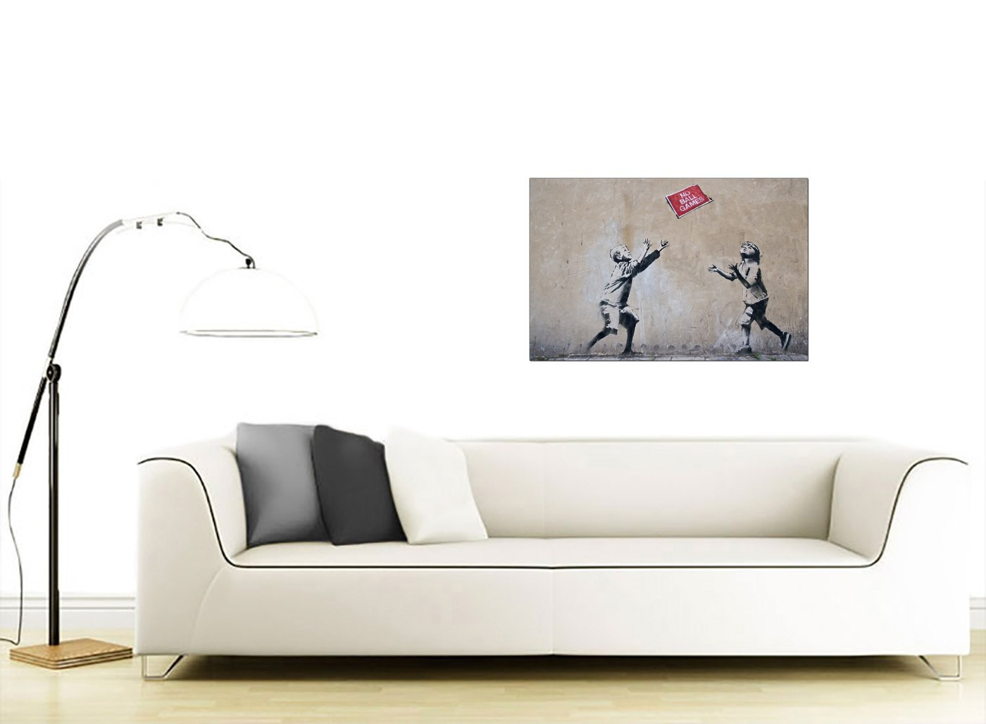 Banksy Canvas Prints No Ball Games