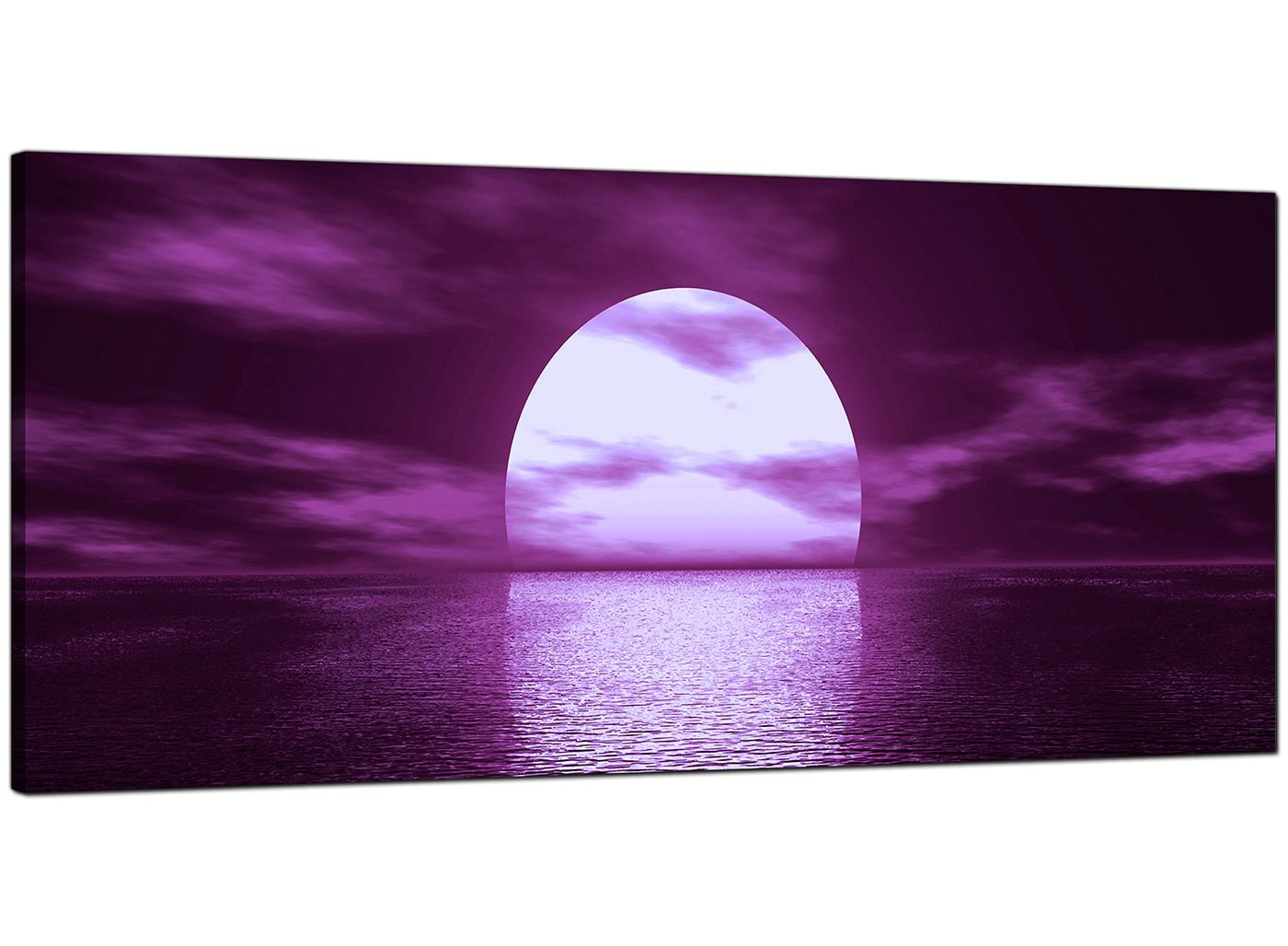 Purple Canvas Wall Art large purple canvas art of a sea sunset