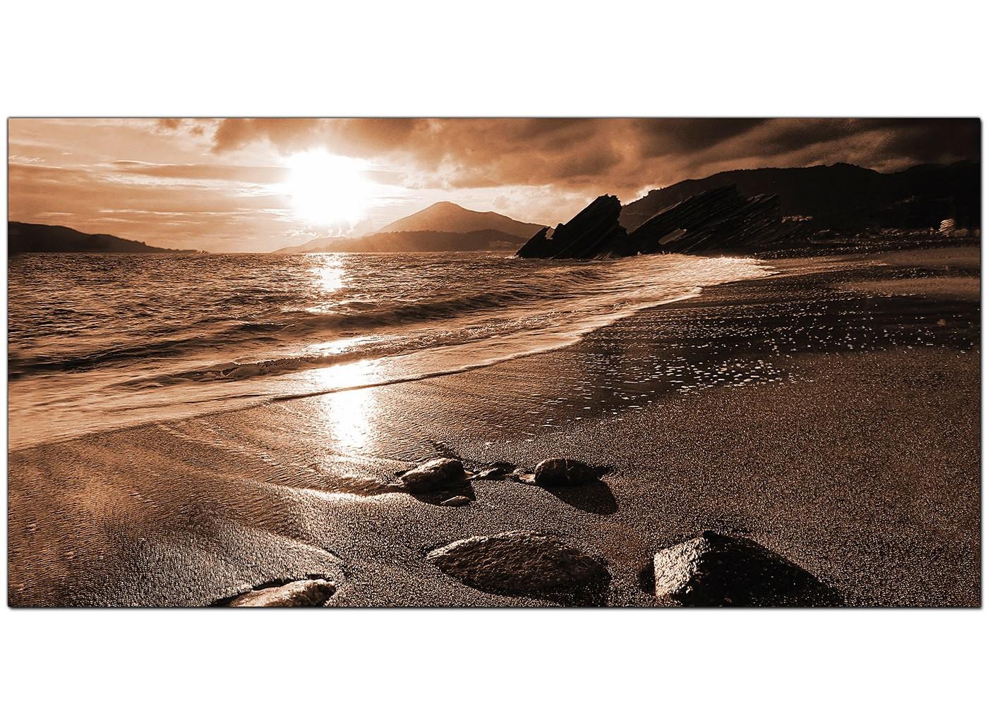 Modern Brown Canvas Prints Of A Beach Sunset