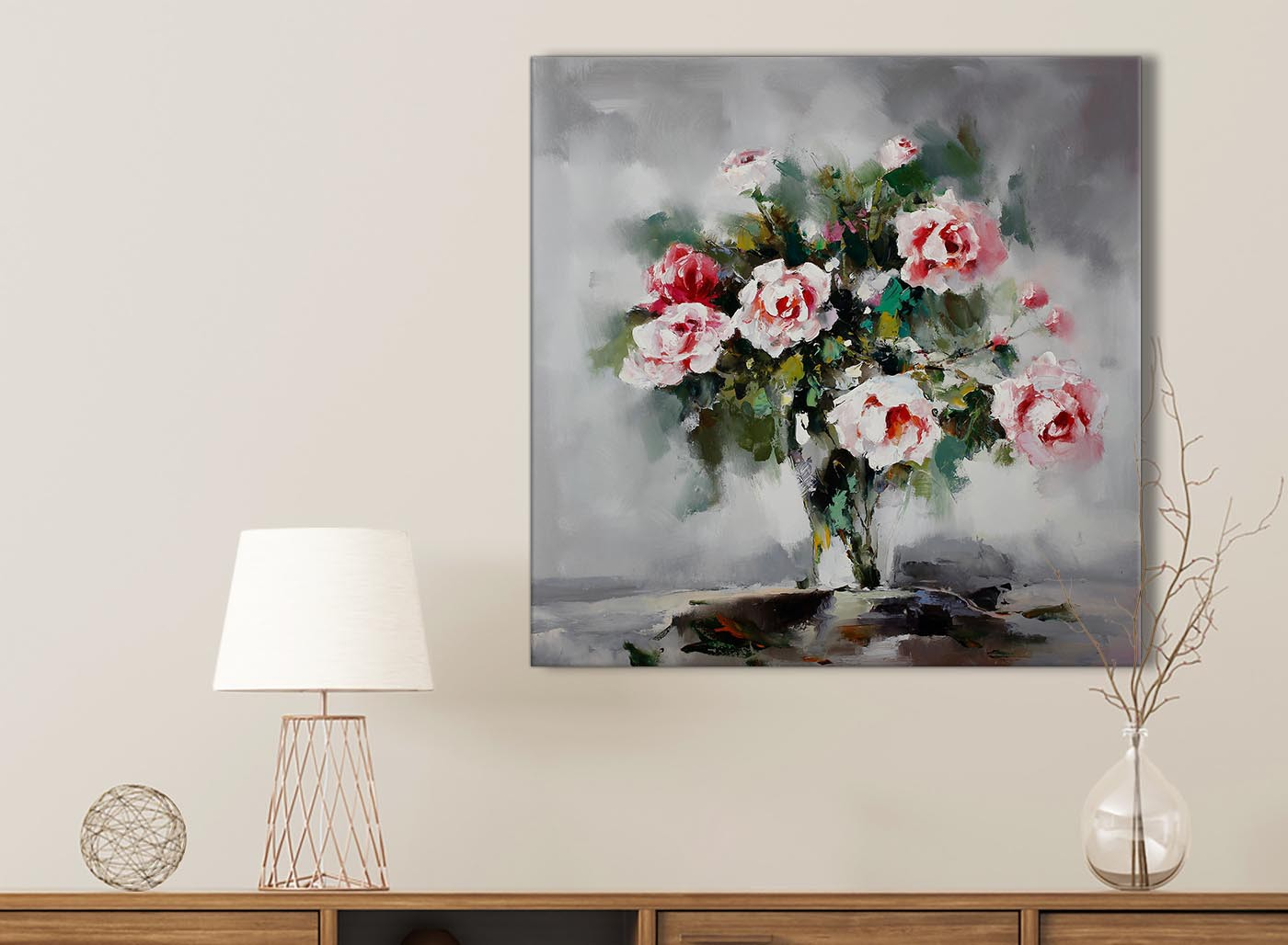 Wall art flower painting - Item Number 1s442s
