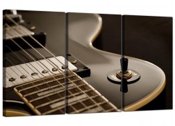 Guitar Canvas Prints UK Set of 3 for your Teenage Boys Bedroom
