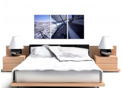Sailing Boat Canvas Art Set of 3 for your Bathroom