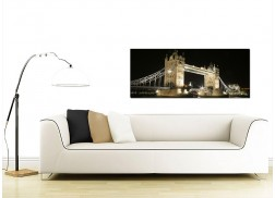 Cheap Black and White Canvas Wall Art of Tower Bridge London at Night