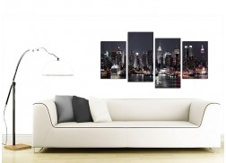 Canvas Pictures of New York Skyline for your Living Room - 4 Panel