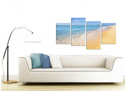 Canvas Art of a Tropical Beach for your Bedroom - 4 Part