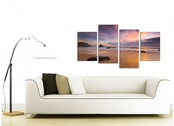 Canvas Prints of a Beach Sunset for your Kitchen - 4 Panel
