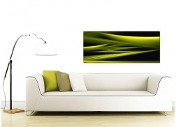 Green Abstract Canvas Prints (120cm x 50cm) - 'Lacid'