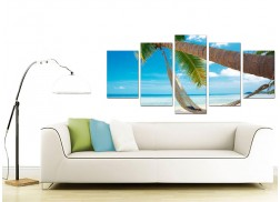 Tropical Beach Canvas Pictures for your Living Room - 5 Part