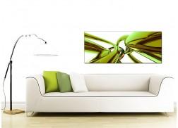 Green Abstract Canvas Art (120cm x 50cm) - 'Jebba'