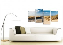 Canvas Wall Art of a Beach for your Living Room - Set of Four