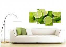 Canvas Prints UK of Limes in Green for your Kitchen