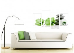 Canvas Prints of Flowers in Green for your Living Room