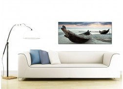 Large Canvas Prints of Tropical Beach Boats for your Office