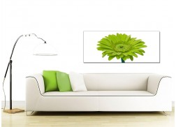 Large Green Canvas Prints of a Daisy Flower