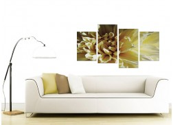 Canvas Prints of Flower in Cream for your Living Room