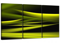 Cheap Abstract Canvas Prints 3 Panel in Green