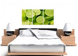 Limes Canvas Prints UK Set of Three for your Kitchen