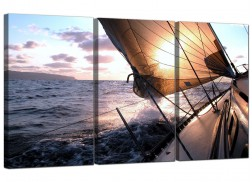 Cheap Sailing Boat Canvas Prints Set of Three for your Living Room