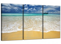 Cheap Tropical Beach Canvas Art Set of Three for your Living Room