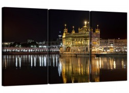 Cheap Sikh Golden Temple Amritsar Canvas Prints Set of 3 for a Hallway