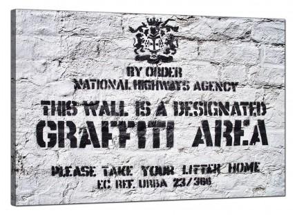 Large Banksy Graffiti Area Modern Canvas Art - 91cm - 157L