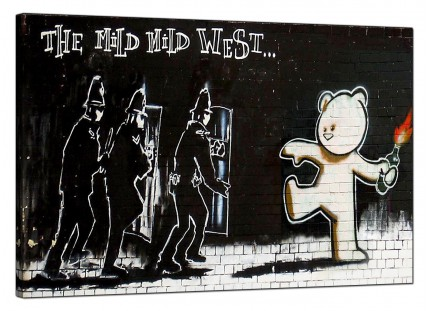 Large Banksy Mild Mild West Modern Canvas Art - 91cm - 164L