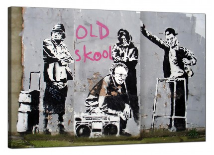 Large Banksy Old Skool Modern Canvas Art - 91cm - 173L