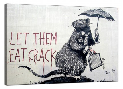 Large Banksy Let Them Eat Crack Modern Canvas Art - 91cm - 174L