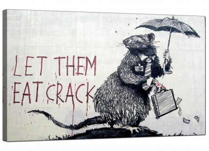 Large Banksy Let Them Eat Crack Modern Canvas Art - 73cm - 174m