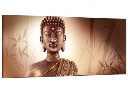 Large Abstract Modern Buddha Face Brown Zen Canvas Art - 120cm - 1101