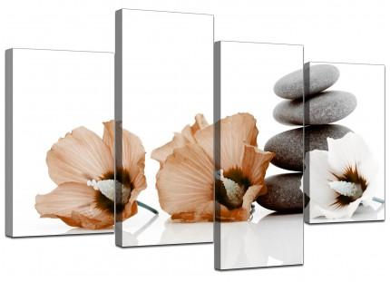 Canvas Pictures of Flowers in Brown for your Office
