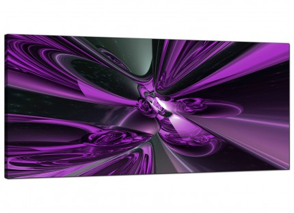 Large Purple and Black Cyclone Abstract Modern Canvas Art - 120cm - 1018